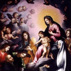 Madonna in gloria e Santi Francesco Curradi