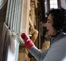 Museo delle Cappelle Medicee Sacrestia nuova durante la pulitura