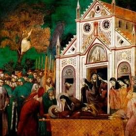 Il pianto delle Clarisse Giotto e aiuti XIII sec