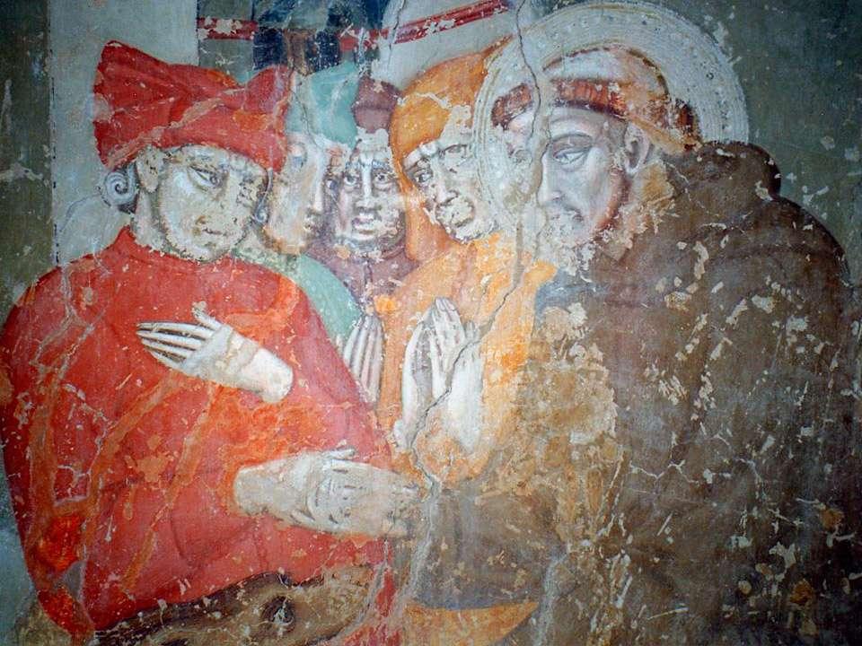 Storie di San Francesco prima il restauro