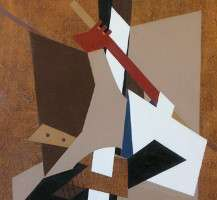 2. Abstract, Esphyr Slobodkina, Dipinto acrilico su masonite cm. 100 x 75, 1970, Collezione privata New York